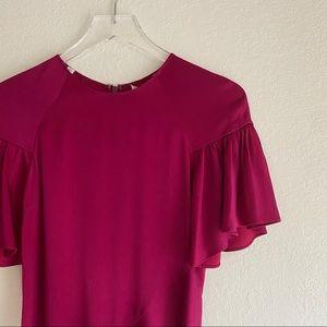 A.L.C. tilly asymmetrical berry pink dress 2 NWT